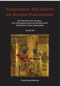 Das Titelbild zeigt den vergoldeten Thron des Pharaos Tutanchamun aus dessen Grab. Darauf dargestellt ist der sitzende Pharao Tutanchamun und seine Frau Anchesenamun, die ihm gegenübersteht, darüber die schützend zu ihnen ausgestreckten Hände des Sonnengottes.